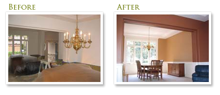 Interior Painting Before & After